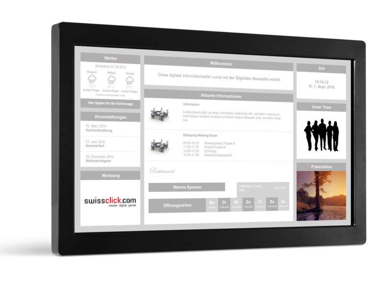 Digitale Haustfafel für Mehrfamililenhäuser, Immobilien, Gewerbe, Eigentümer, Bewirtschafter