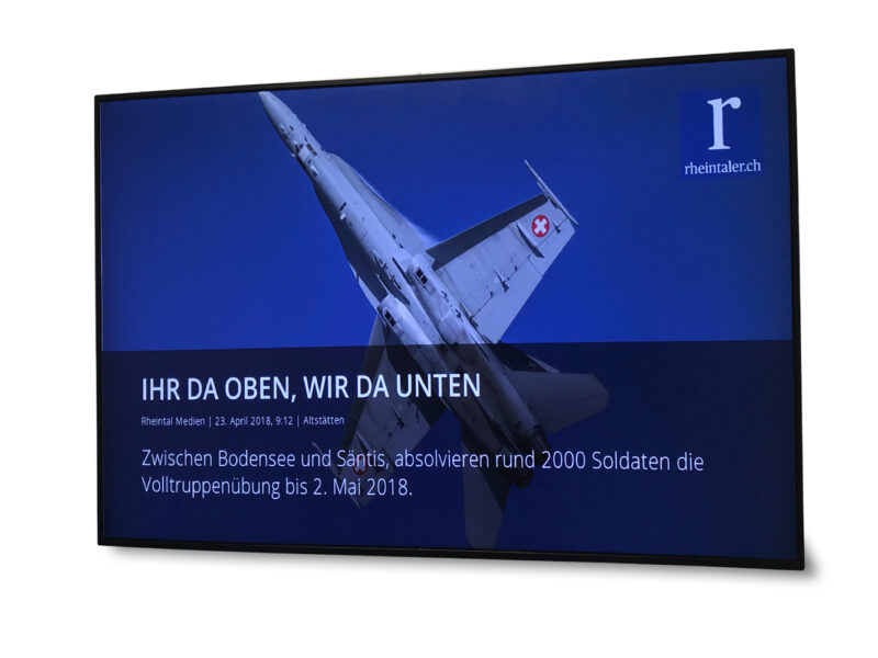Infoboard für Gemeinden, Gewerbe, Verlage