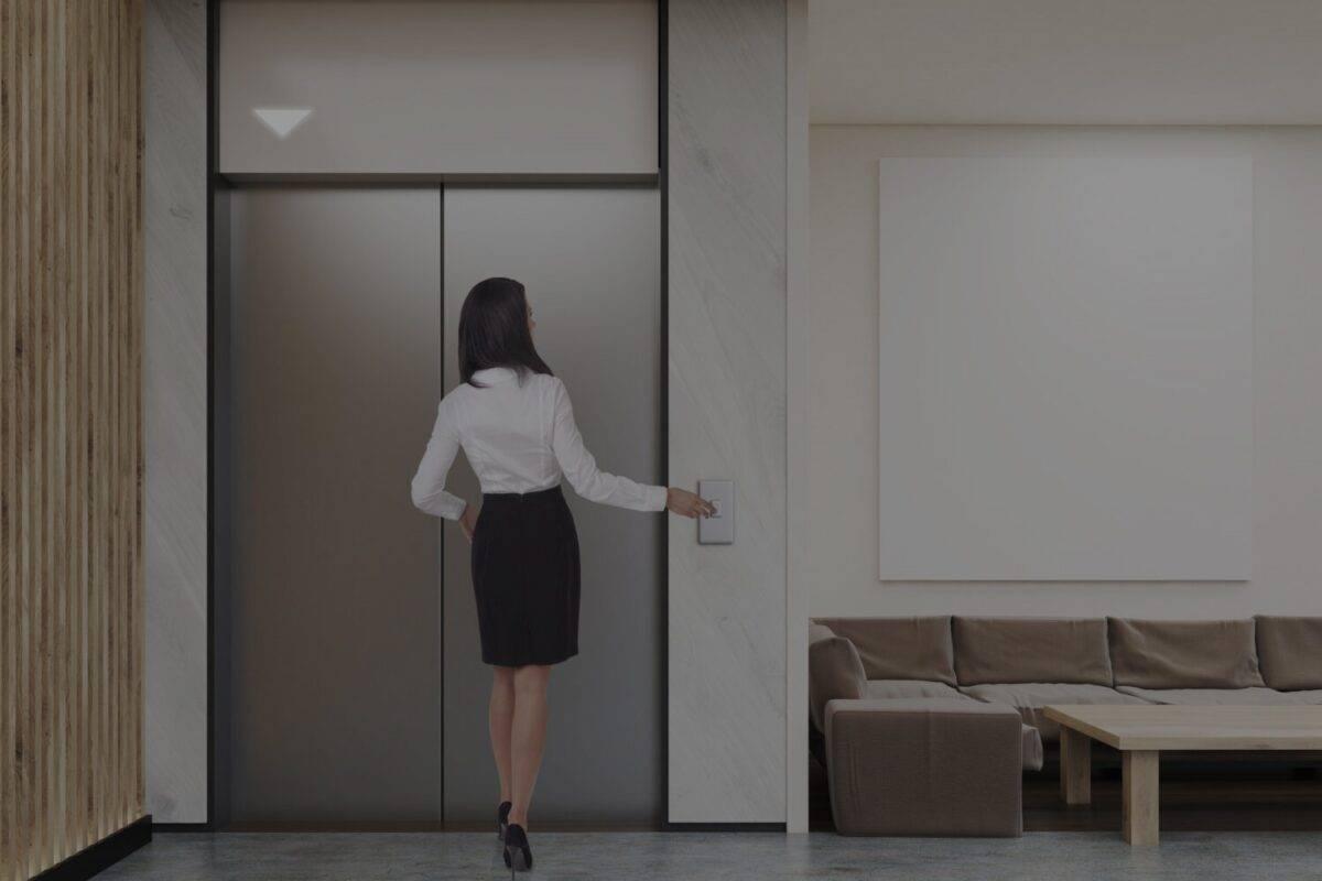 Mitarbeiterkommunikation im Lift Infotafel
